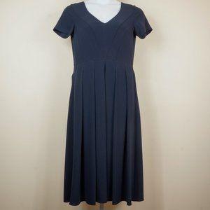 Aspesi Dresses - 3/$20 Aspesi Navy Crepe Dress V-Neck Midi Italian